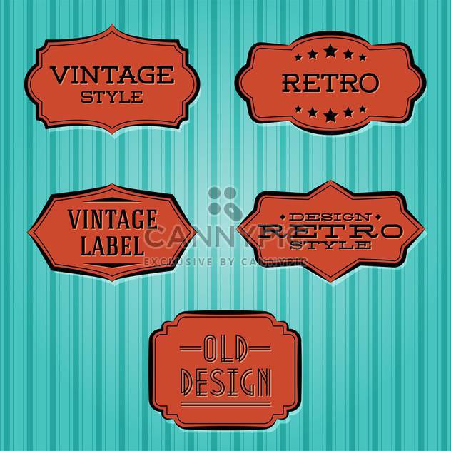 Vector collection of vintage and retro labels - Free vector #128120