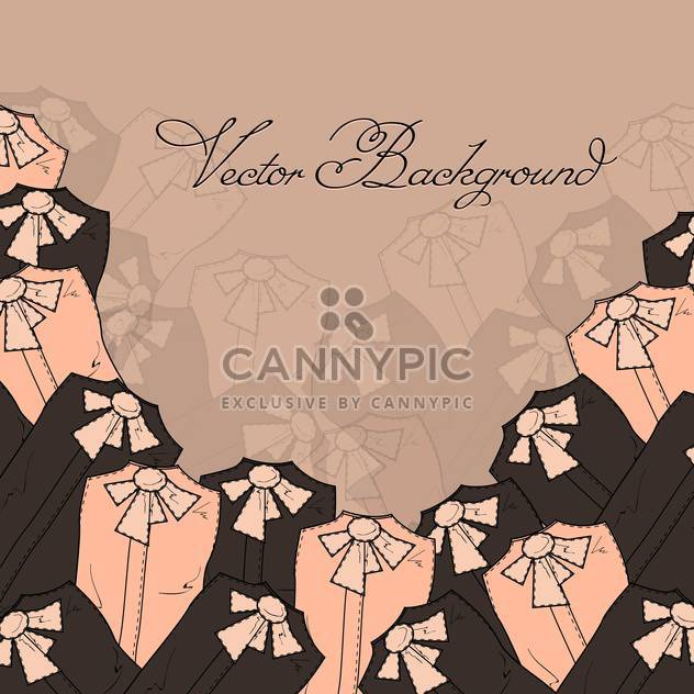 Vector background with blouses - Free vector #128170
