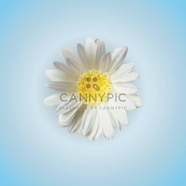 Weißen Kamille Blume, Vektor-Symbol - Free vector #128250