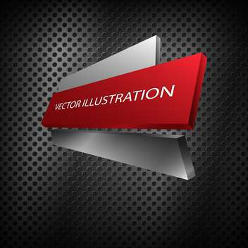 red vector metallic banner - vector gratuit #128290