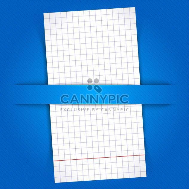 White paper sheet on blue background - Free vector #128310