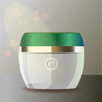jar with cream for beauty and health - vector gratuit #128400