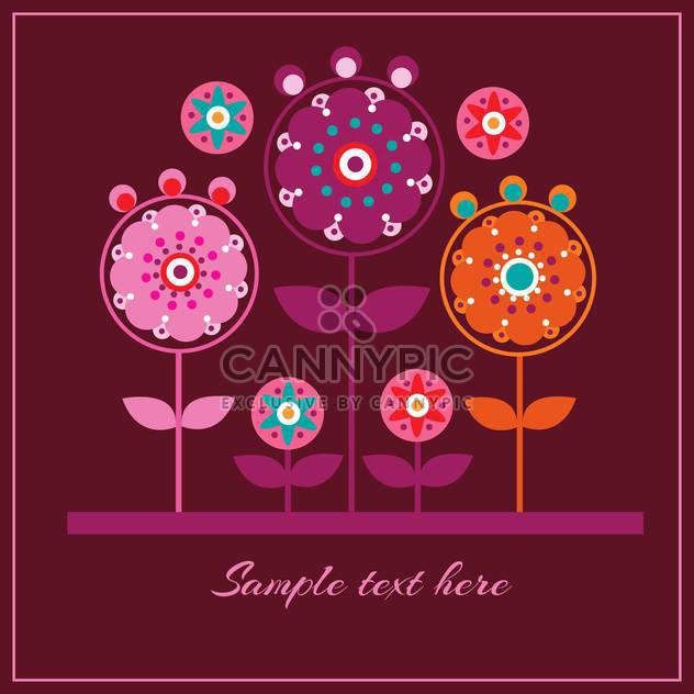 Floral vector pattern background - Free vector #128410