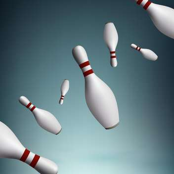 Vector illustration of bowling pins - vector gratuit #128420
