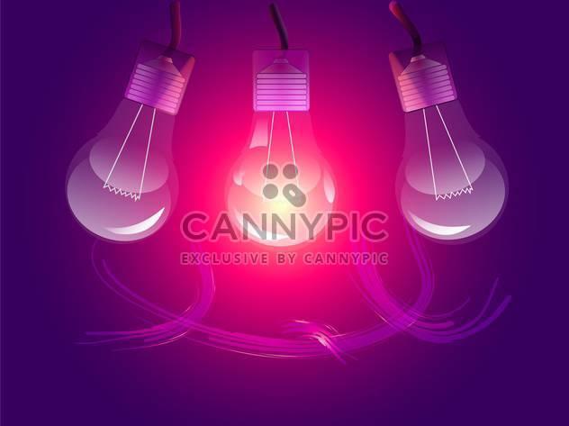 Vector stylish conceptual digital light bulbs design - Free vector #128460