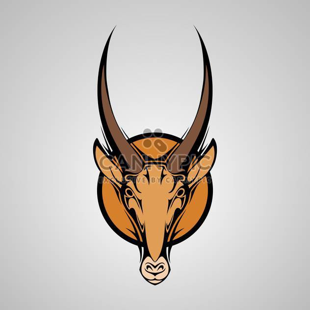 Vektor-Illustration Antilope Grafik Maskottchen Kopf mit Hörnern - Kostenloses vector #128530