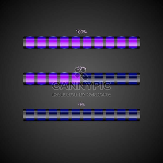 Vector set of loading bars. - Free vector #128560