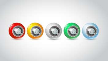 Vector set of color webcams isolated on white background - Free vector #128570