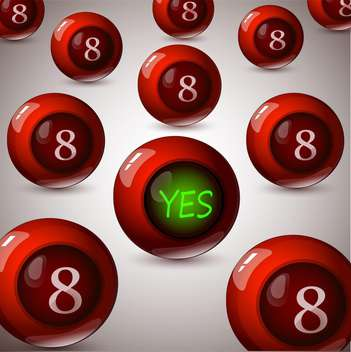 Vector background with magic 8 balls and sign Yes on the ball - Kostenloses vector #128630