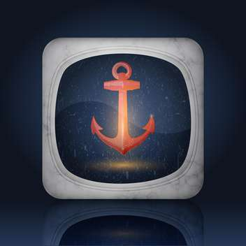 Vector icon vintage styled anchor - vector #128680 gratis