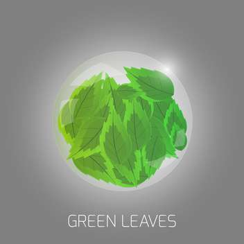 Vector illustration of green leaves - vector #128690 gratis
