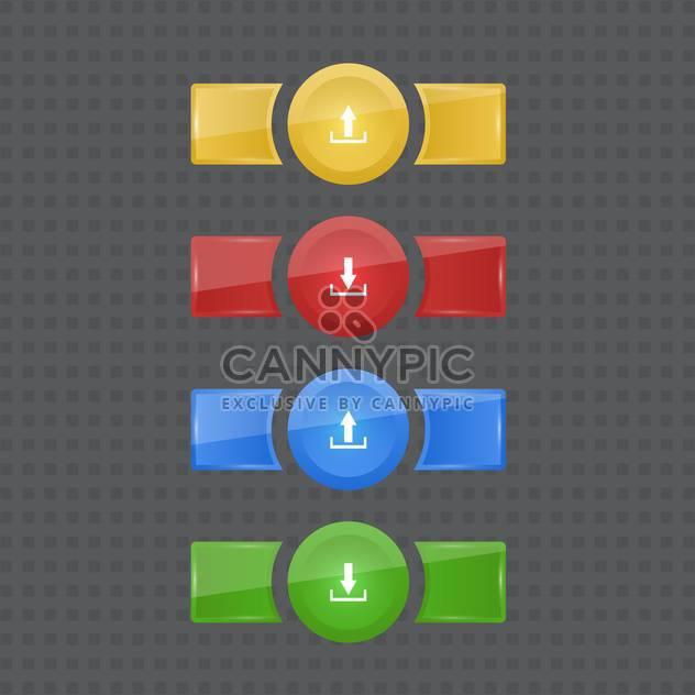 Vector set of upload, download elements - Free vector #128700