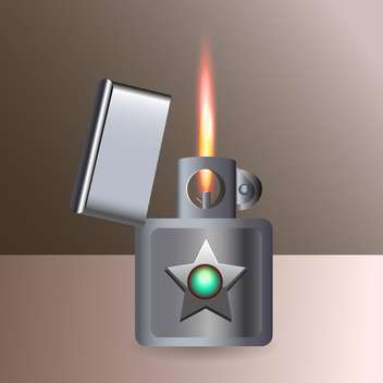 Vector illustration of burning cigarette lighter - Free vector #128790