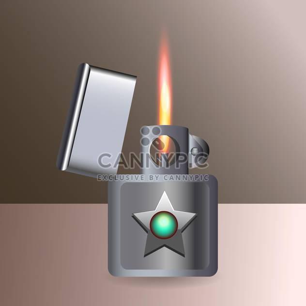 Vektor-Illustration von brennenden Zigarettenanzünder - Kostenloses vector #128790