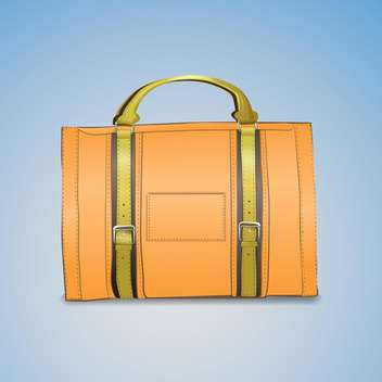 Vector illustration of leather briefcase on blue background - vector gratuit #128860