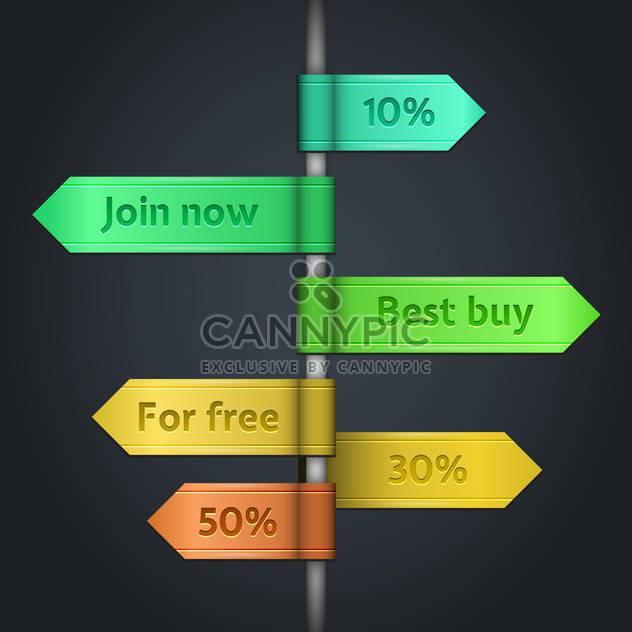 der Vektor Einkaufen Verkauf Tags festlegen - Kostenloses vector #129020