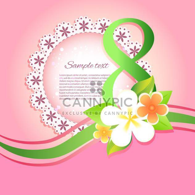 happy women's day greeting card - Free vector #129090