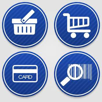 shopping badges icons set - vector gratuit #129100