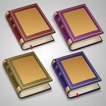 vector set of old books - vector gratuit #129130