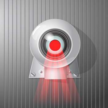 surveillance camera vector illustration - vector gratuit #129140
