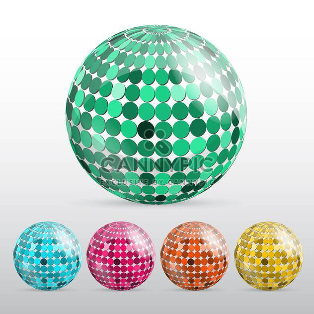 glossy colorful disco balls - Free vector #129150