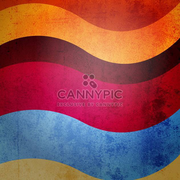 colorful vintage wavy background - Free vector #129160