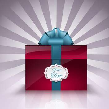 vector gift box with place for text - vector gratuit #129180