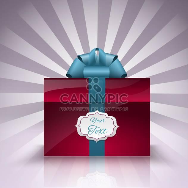 Vektor-Geschenk-Box mit Platz für text - Free vector #129180