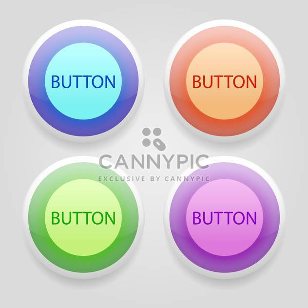 set of colorful 3d buttons - Free vector #129240