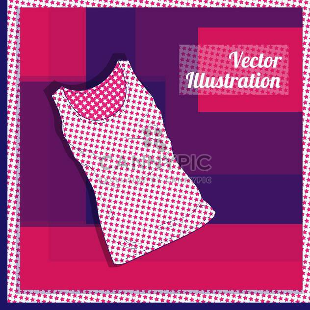 Vector illustration of pink female singlet with stars - Free vector #129300