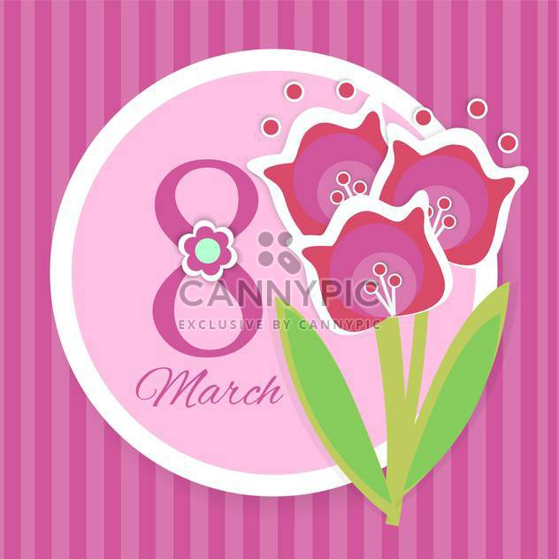 Vector Womens day greeting card with flowers - Free vector #129350