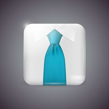 Vector icon button with shirt and tie - бесплатный vector #129360
