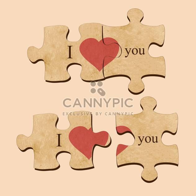 Vektor-Illustration der Liebe Rätsel mit Herzen - Kostenloses vector #129450
