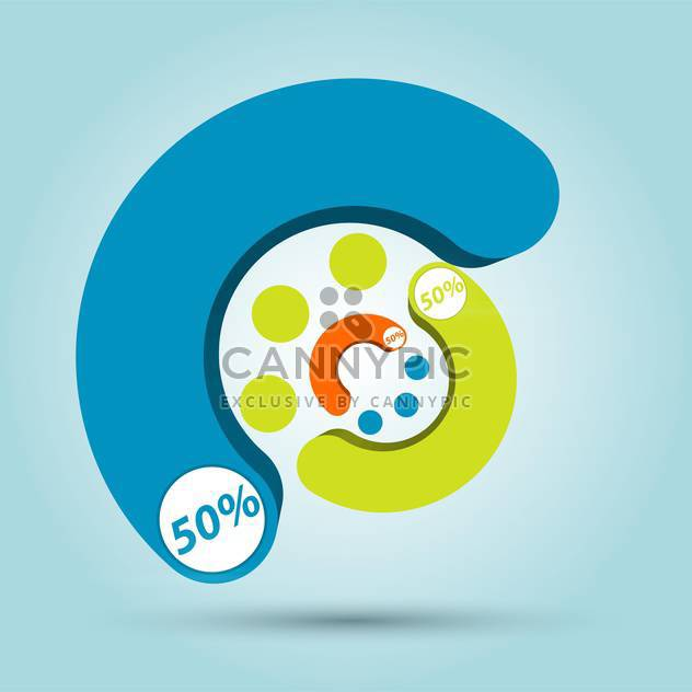 Bunte Infografiken Vektorelemente - Kostenloses vector #129480