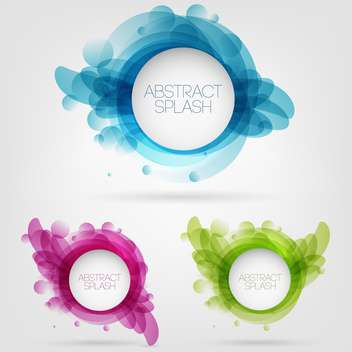 Vector abstract splash design circle frames on gray background - Free vector #129680