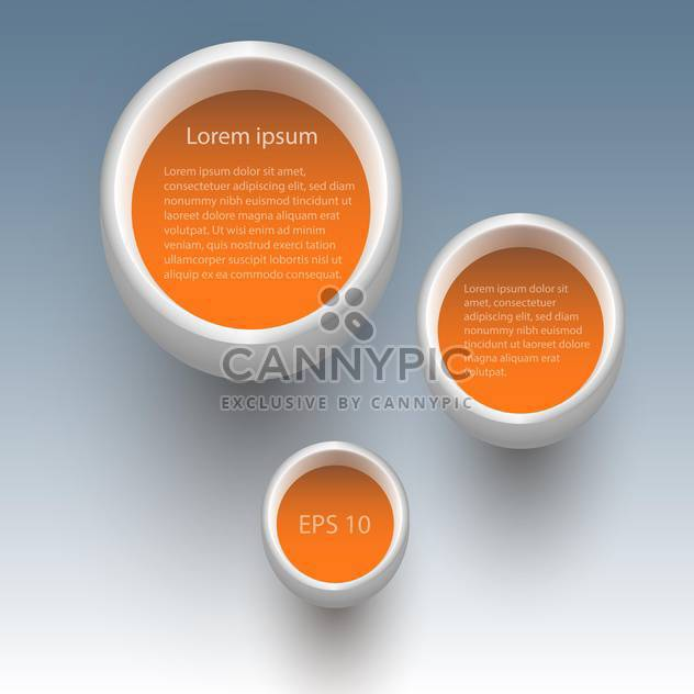 Three vector orange buttons on gray background - Free vector #129740