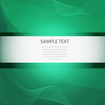 Abstract vector green background with wavy lines - vector gratuit #129760