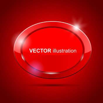 Vector shiny red round banner on red background - vector gratuit #129790