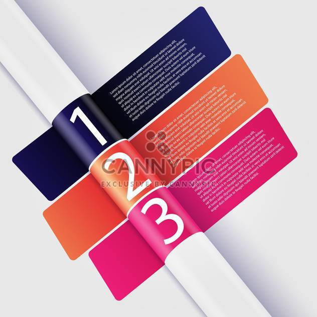 Vector infographic banner background with numbers - Free vector #129820