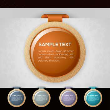 Set of colorful round vector badges - Free vector #130020