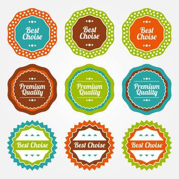 Vector set of colorful vintage labels for sale on white background - бесплатный vector #130040