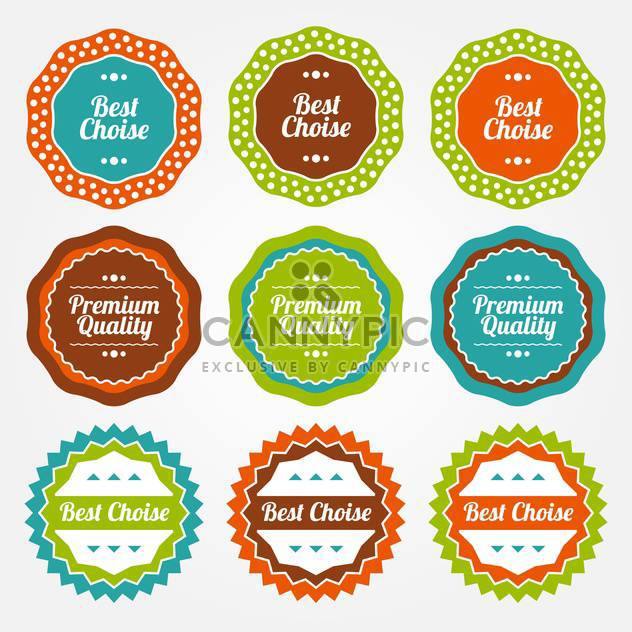 Vector set of colorful vintage labels for sale on white background - Free vector #130040