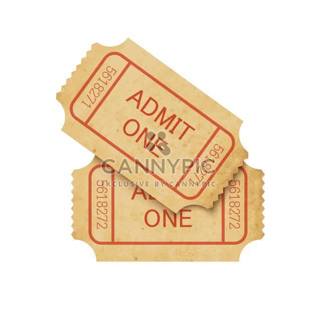 Vector illustration of two vintage cinema tickets - Free vector #130090