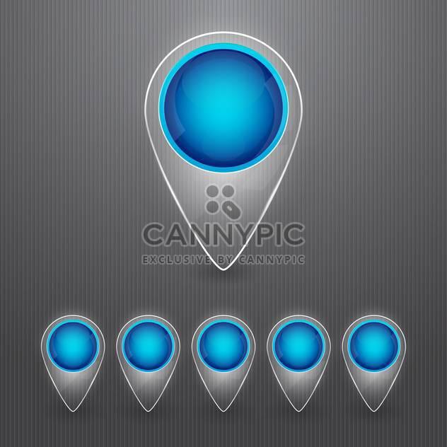Runde blaue Karte Zeiger auf grauen Hintergrund - Kostenloses vector #130150