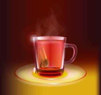 Vector illustration of tea cup - vector gratuit #130210