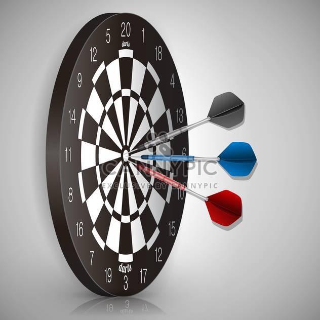 Vektor-Illustration von bunten Dart trifft ein Ziel - Kostenloses vector #130230