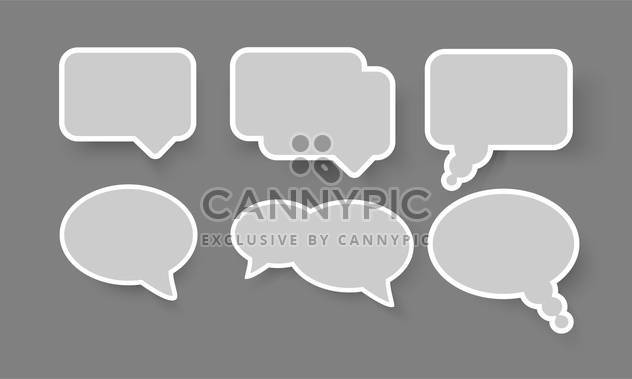 set of speech and thought bubbles elements - Free vector #130240