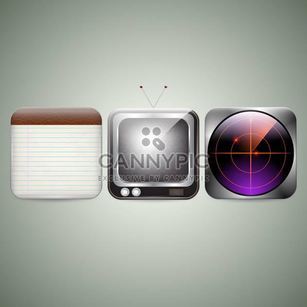 multi media icons vector set - Free vector #130300