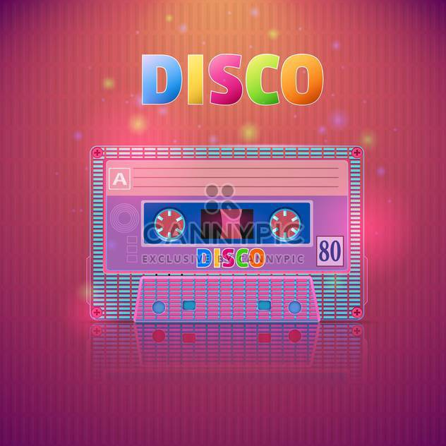 tape cassette with disco inscription - Free vector #130310