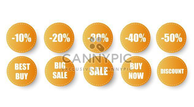 set of sale labels icons - Free vector #130330